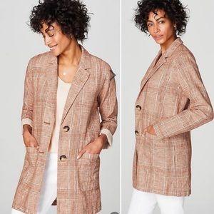 NWT J JILL Harper relaxed linen jacket lagenlook